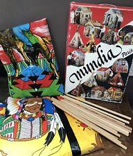 Tente d'indien vintage Nuage Rouge, tipi pour enfant, Mundia Paris 1970's - TTBE