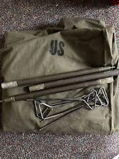 NOS US ARMY / USMC ORIGINAL Shelter Half Pup Tent, 1/2 Tent Set F-24