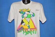 vintage 80s Skateboard Egg Plant Gulf Shores Alabama Tourist Neon t-shirt Xl
