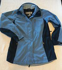 Women's Sky Blue Columbia Jacket Windbreaker Size M Medium Spring Vertex Core!