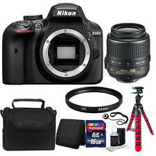 Nikon D3400 24MP Digital SLR Camera with 52mm UV Filter + Best Value Kit