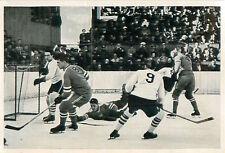 34. Ice hockey Canada-USA Final OLYMPIC GAMES 1936 CARD