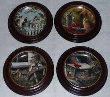 Lot 4 ~ Bradford Exchange NOSY NEIGHBORS Kitten Cat Plates Persis Weirs + Frames