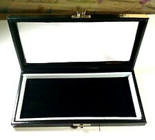 GEMSTONE Diamond Display Storage leather box Jewelry insert velvet 23x12x4 cm