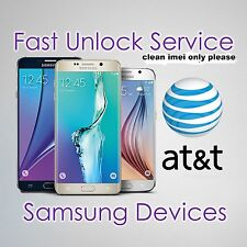 FACTORY UNLOCK CODE SERVICE IMEI AT&T ATT SAMSUNG GALAXY S7 S6 S5 S4 S3 NOTEs