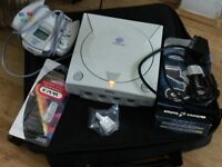 Sega Dreamcast PAL E  White Cancole HJT-3030 Spare & Repair( No Game To Tested)