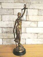 Justitia Poly Figur bronziert  Anwalt Lawer Göttin Gerechtigkeit 37cm