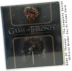 Game Of Thrones: The Complete Series - Official Binder/Album & P1 Promo Card