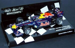 MINICHAMPS 100005 or 110071 RED BULL RACING VETTEL F1 model cars 2010 2011 1:43