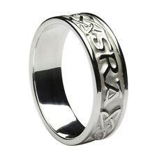 10K White Gold Gra Go deo Wedding Ring Band SIZE 6.5 Made in Ireland by Boru