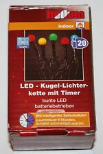 "HELLUM 521238 ""LED-Kugel-Licherkette mit Timer"" - indoor"