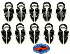 """GM 1/4"""" Cable Engine Headlight Dash Horn Wiring Harness Hose Clamp Clips 10pc SO"""