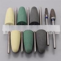 8pcs/Set Résine Dentaire Base Acrylique Fraises à Polir Perceuse Outils Rotatifs