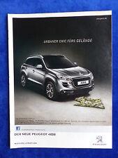 Peugeot 4008 - Werbeanzeige Reklame Advertisement 2012 __ (219