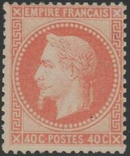 "FRANCE STAMP TIMBRE N° 31 "" NAPOLEON III  40c  ORANGE 1868 ""  NEUF xx TB J909"