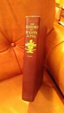 THE HISTORY OF PI KAPPA ALPHA * FREEMAN HANSFORD HART * 1941 HARDCOVER *