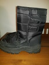 BLACK SIZE UK 8 WATERPROOF BOOTS THERMAL LINED