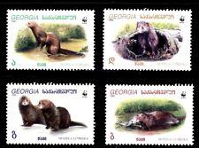 SELLOS TEMA WWF GEORGIA 1999 234/7 VISON EUROPEO. MUSTELA LUTREOLA 4v.