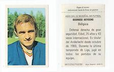 MEXICO 70 1970 Adesivo RARA EDIZIONE SPAGNOLA come FKS Belgio Georges heyeens