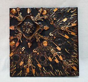 Assemblage Constructivist Sculpture -- Metal Objects -- 1970s