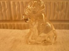 antique glass candy container-dog