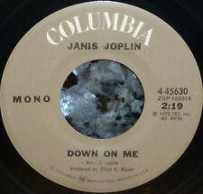 """*<* JANIS JOPLIN/BIG BROTHER LIVE """"DOWN ON ME/BYE BYE BABY"""" CLEAN VG+ 45/SLEEVE!"""