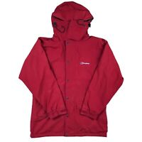 Berghaus Jacket Red Size 12 Outdoors Walking Hooded Y2k Hiking Festival