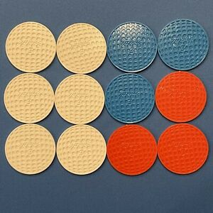 12 Vintage Titleist Poker Chips Golf Ball Markers Red White And Blue