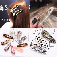 Women Hair Slide Clips Snap Barrette Hairpin Pins Hair Accessories Fashion Gift