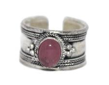 Quartz ring healing ring Silver ring Nepal ring Tibetan ring Boho Ring D