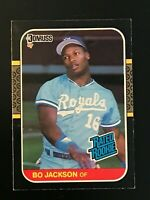 1987 Donruss Bo Jackson Rated Rookie #35 Royals