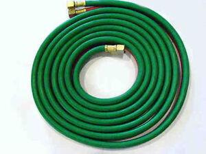 Oxygen/Acetylene Quality Welding Hose, 15 foot, 1/4 Inch, GRADE T - All Fuels