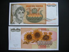 YUGOSLAVIA  100000 Dinara 1993  (P118)  UNC