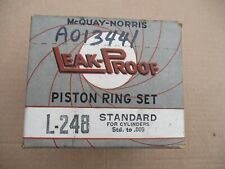 Piston Rings 1939 – 1946 Aerocoach Ford Garwood Mercury Superior Truchstel. STD.