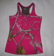 Realtree Womens Racer Back Tank Top Pink Camo Sizes L, nwot