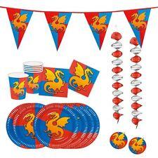 Los Caballeros Dragones Medieval Fiesta De Cumpleaños Vajilla Tazas Placas Conjunto Niños Partyware