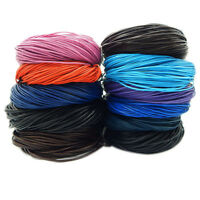 Round 2mm Leather Cord Thread For Bracelet Necklace Jewelry Making 1M & 5M