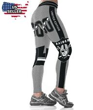 OAKLAND RAIDERS 00 NFL National Football Team Leggings Women's Fitness Yoga GYM