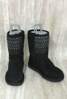 UGG Women's Shimmer Sparkle Solid Black Classic Short Boots 1003890 Size: 7
