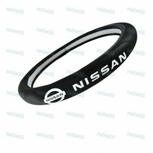 "New Faux Leather For NISSAN New Black 15"" Diameter Car Auto Steering Wheel Cover"