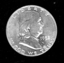 Franklin, Silver 1/2 Dollar coin, 1952 uncirculated-ungraded. 90% silver.