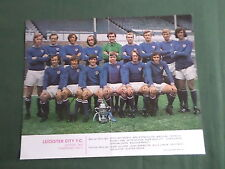 LEICESTER CITY - FOOTBALL TEAM 70/71 - MAGAZINE CENTRE FOLD PICTURE- CLIPPING