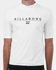 "Tag Billabong Mens XL ""front"" Wet Shirt Rash Vest Relaxed Fit Short Sleeve"