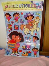 Magic Stickers Dora the Explorer **stick on & peel off & reuse on ALL SURFACES