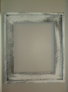 Large Solid Wood Vintage Rustic Picture Frame - Painted DISTRESSED Chalk Paint