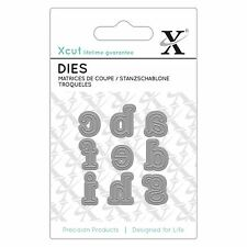 Docrafts X-Cut Mini Alphabet Die - Serif Alphabet Letters a-i Die Cutting