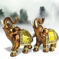 Feng-Shui Elegant Elefant Harz-Statue Glück Reichtum Figur Geschenk & Heim