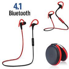 V4.1 Bluetooth Headset Sport Musik Kopfhörer Ohrhörer Freisprech für Samsung HTC