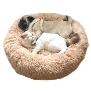 Soft Dog Bed Plush Cat Mat Dog Beds Labradors Dogs Bed House Round Cushion Pet