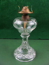 Antique EAPG Brilliant Period Crystal Whale Oil Lamp #1 Burner Boston